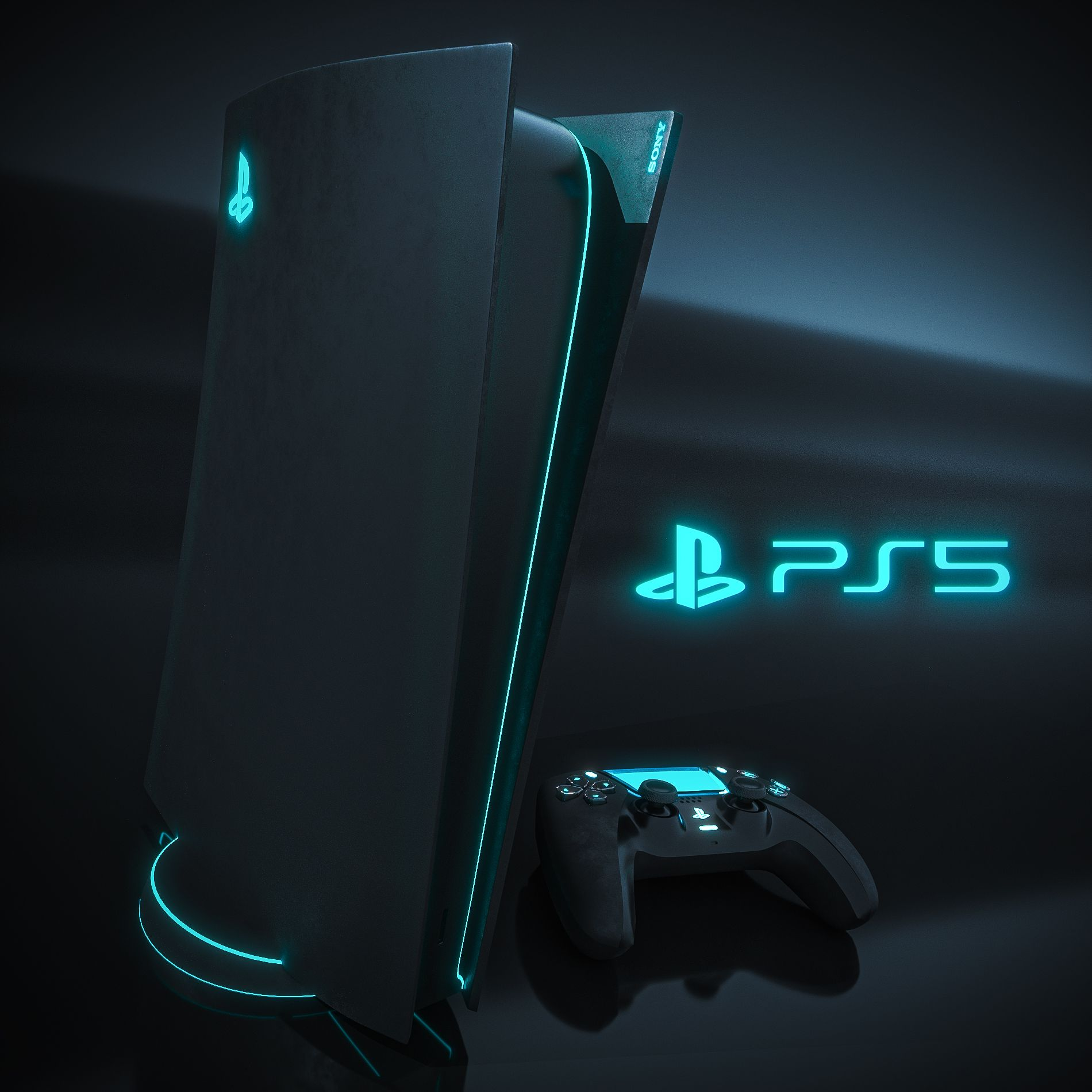 Had a quick go at restyling the PS5. in 2020 The dark