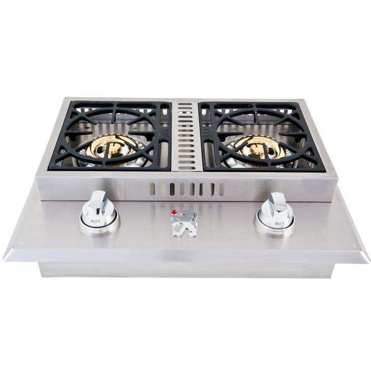 Lion Stainless Steel Drop In Natural Gas Double Side Burner Outdoor Kitchen Design Built In Grill Small Space Interior Design