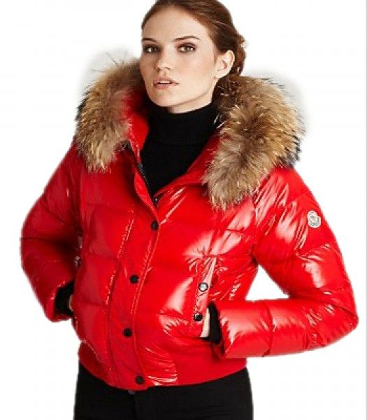 Veste moncler femme rouge
