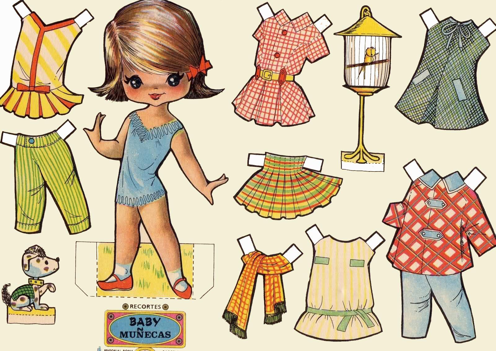куклы с одеждой для вырезания картинки направленный них, отражается
