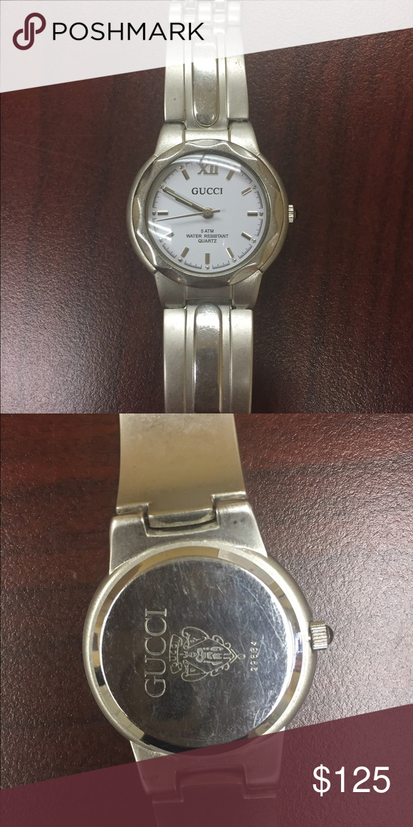 1a925057cb2 authentic Gucci woman watch Authentic Gucci watch silver water resistance  has all the links has not