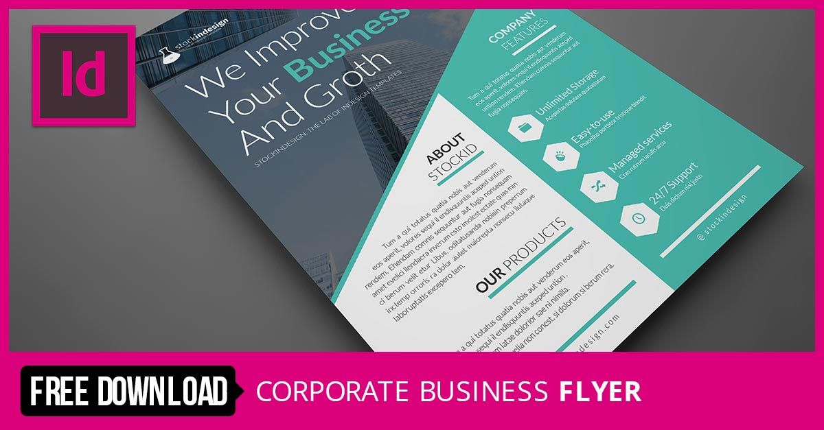 flyer template corporate business flyer - Managed Services Brochure Template