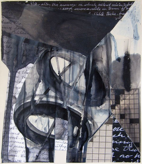 "Joseph Zirker Cast Acrylic Monotype,  Machine 68, 2010, 18"" x 12"""