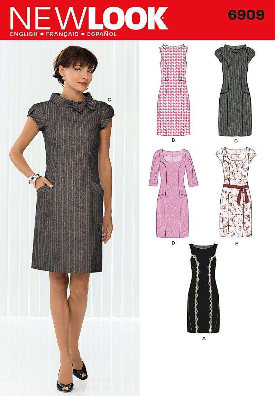Simplicity : 6909 col noué robe princesse   Patron de vêtements ...