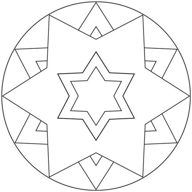 sternemandala 9  mosaikmuster sterne ausmalbilder