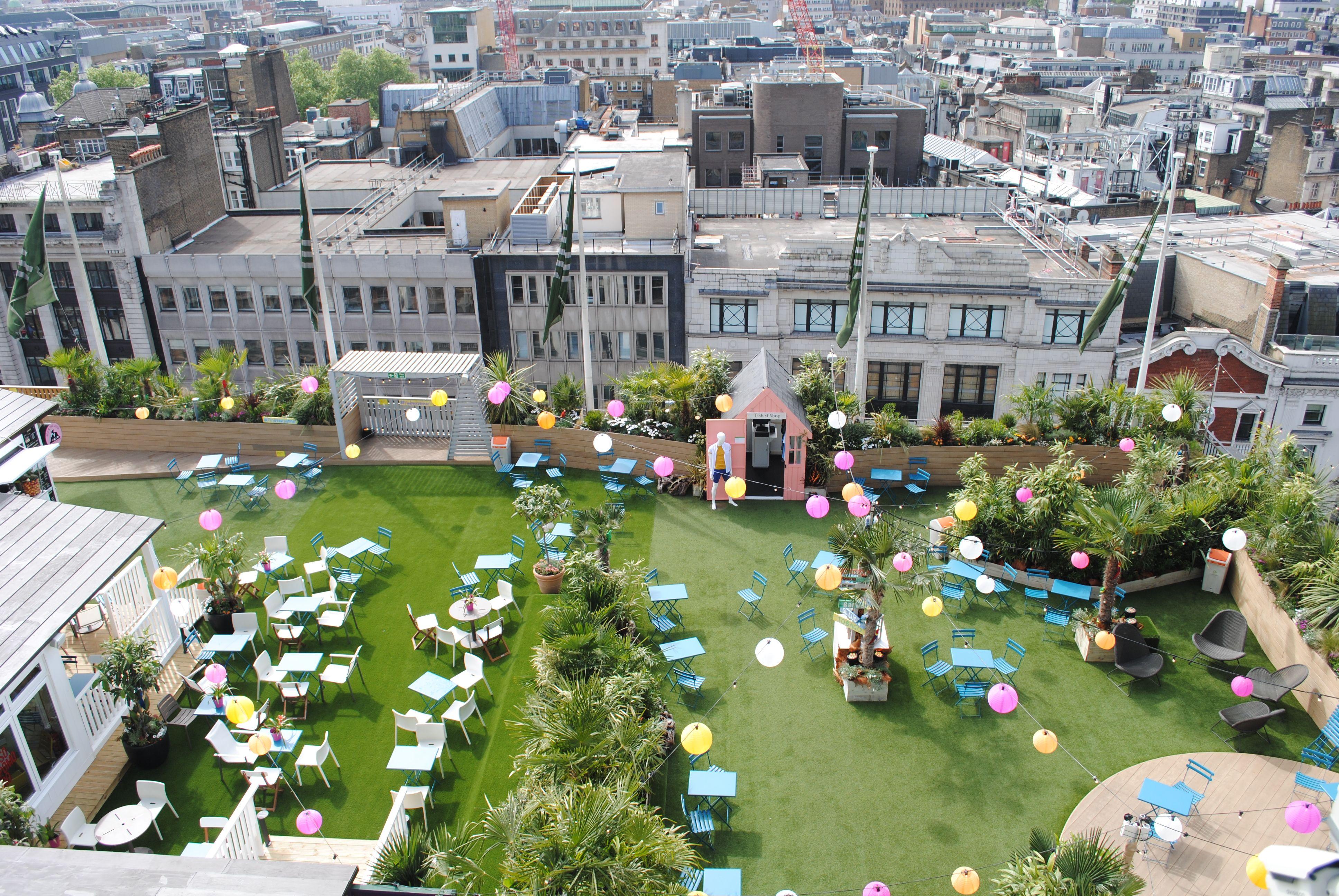 6f9641cf3ce5 Rooftop garden for John Lewis' 150th birthday   JL   Oxford street ...
