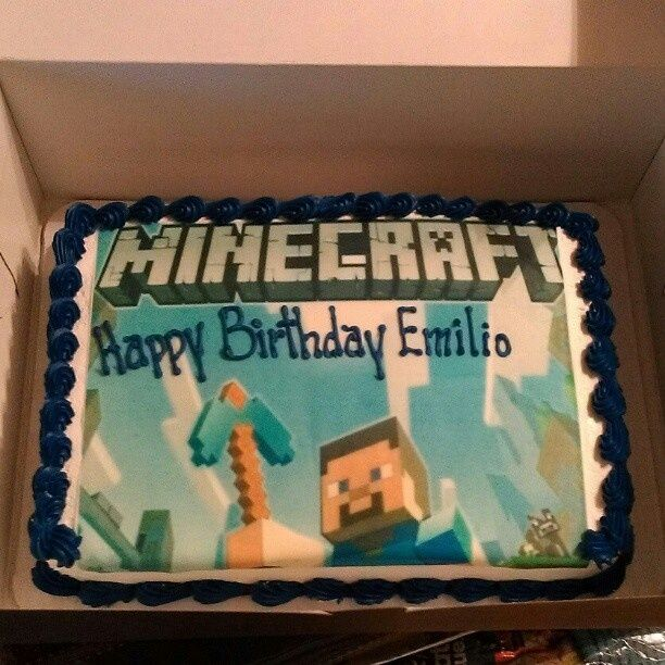 Minecraft Birthday Cake Walmart