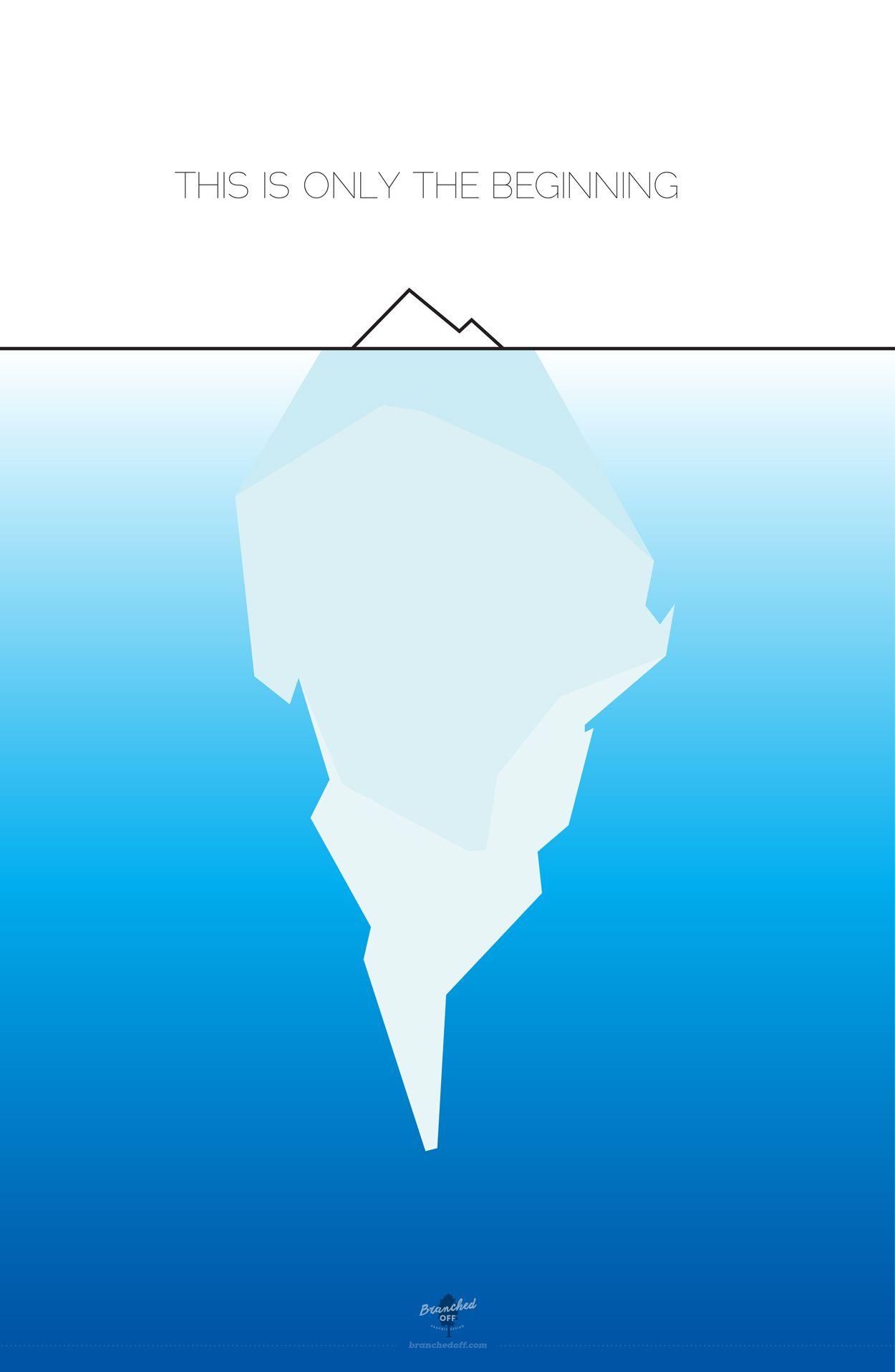 iceberg design poster branched off tip of the iceberg. Black Bedroom Furniture Sets. Home Design Ideas