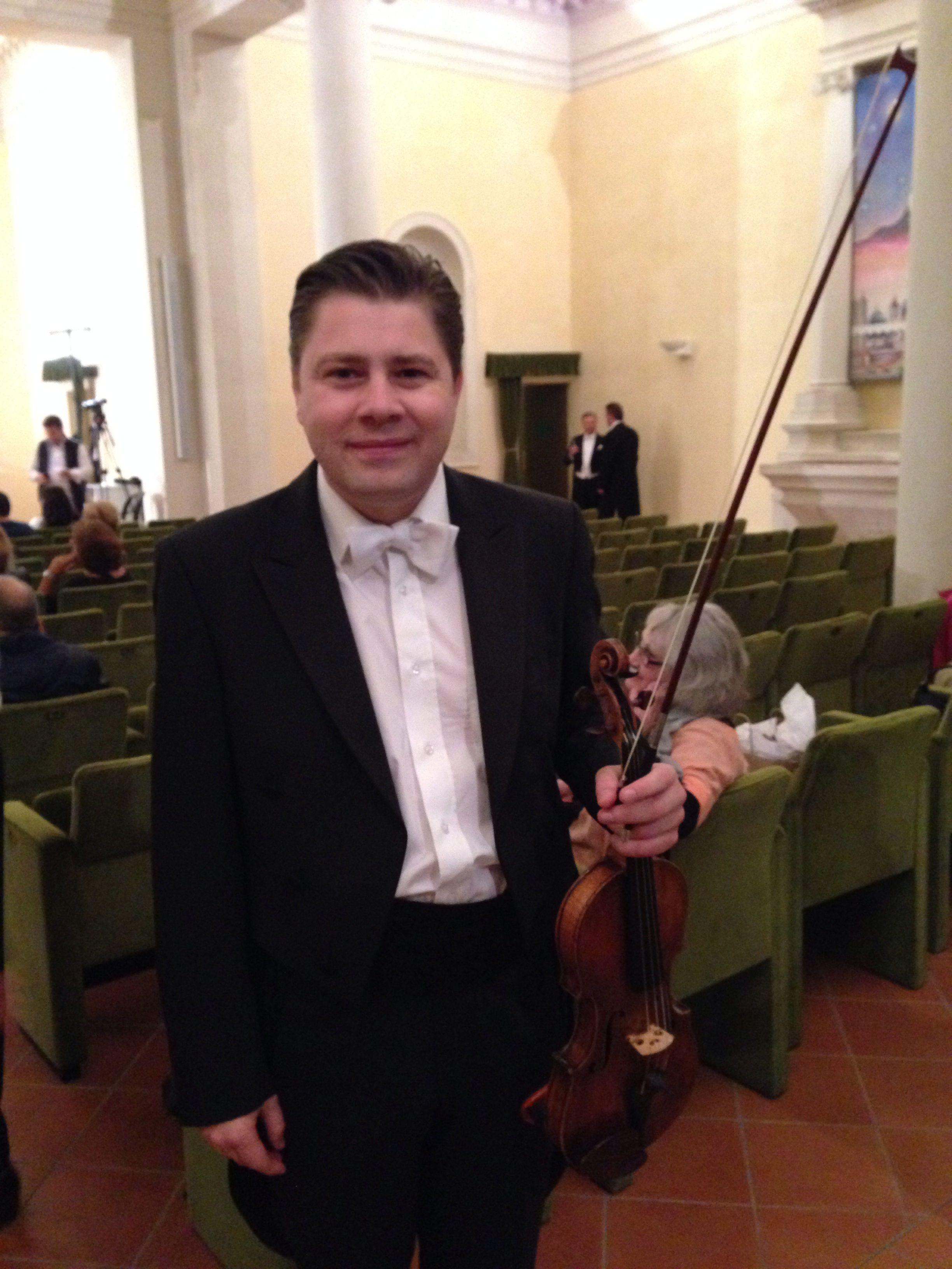 """Cătălin Desagă, Romanian violinist, founder of the """"Desaga Solisten Orchestra""""."""