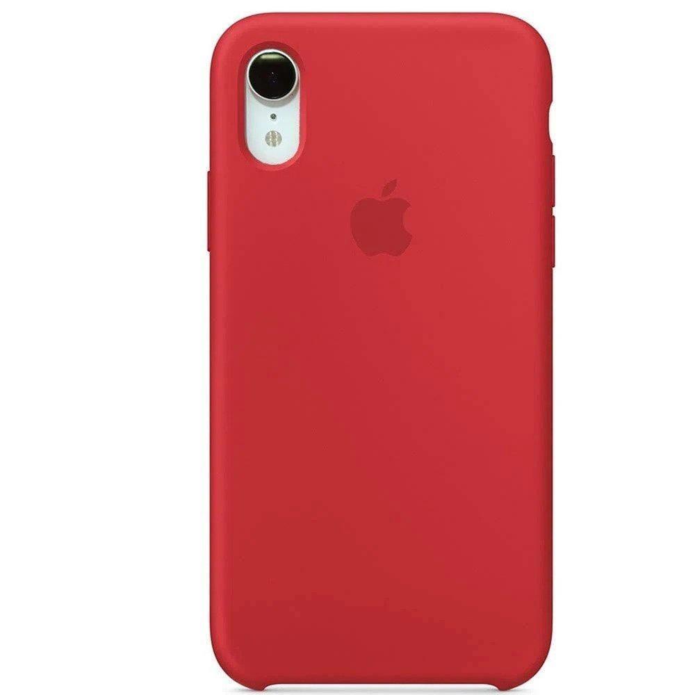 Generic liquid silicone apple iphone xr case red