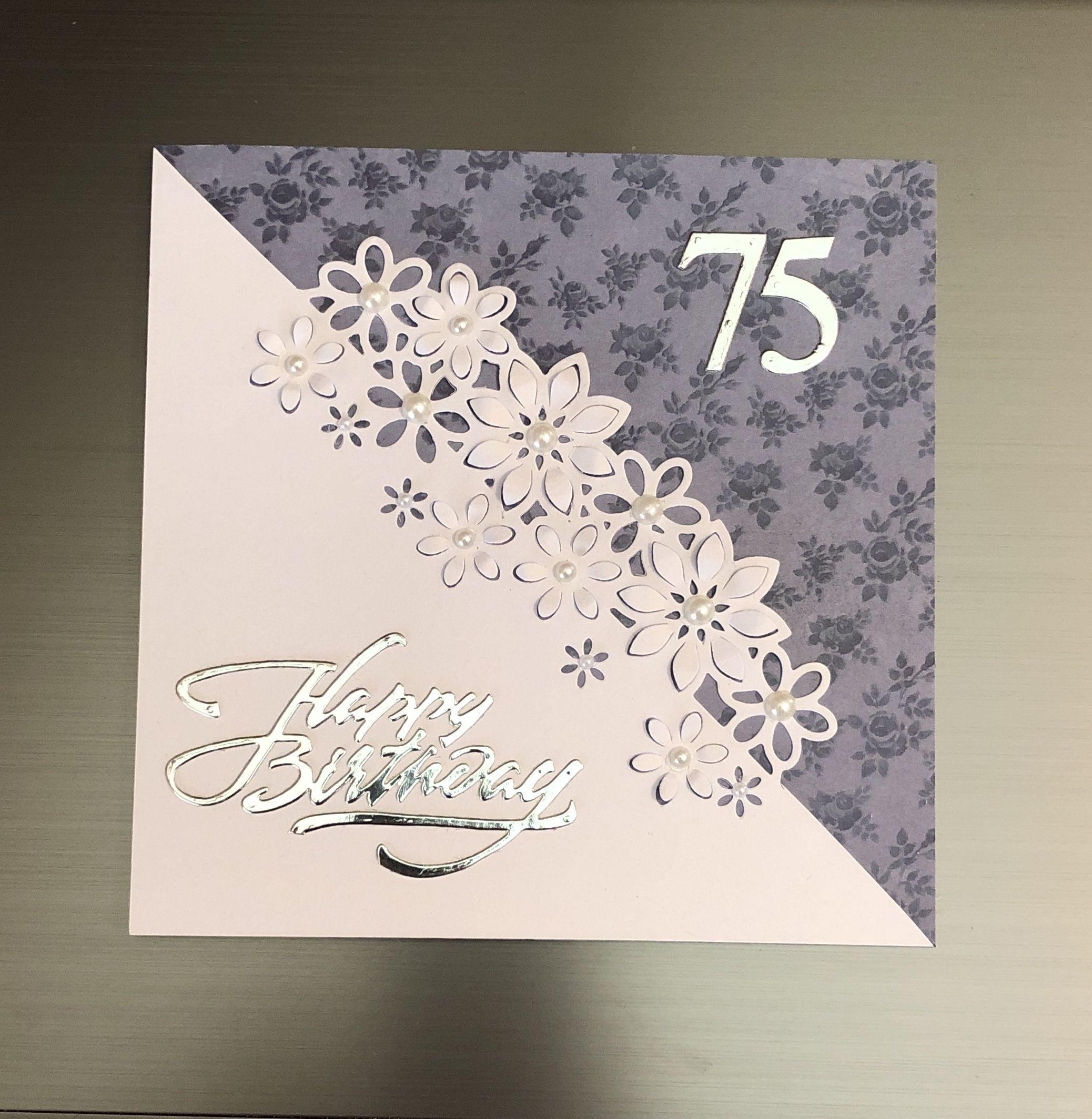 75th Birthday Card 75th Birthday Handmade Birthday Cards Birthday Cards