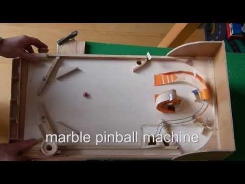 Homemade Wood Pinball Machine Using Regular Marbles