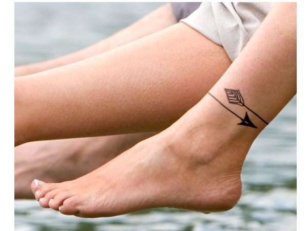 10 Amazing Ankle Arrow Tattoo Designs Ankle Bracelet Tattoo Bracelet Tattoo For Man Anklet Tattoos