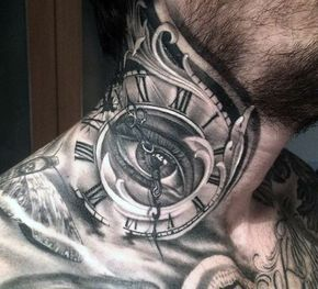 Top 80 Mind Blowing Clock Tattoos 2020 Inspiration Guide Neck