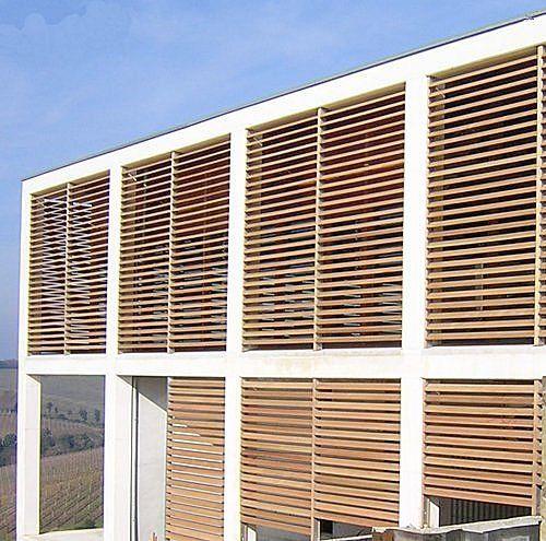 Sonnenschutz aus Holz TYPE S WOOD MERLO Architekturideen - interieur mit holz lamellen haus design bilder