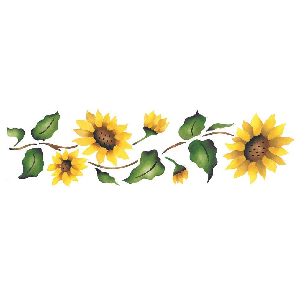 Designer Stencils Sunflower Border Wall Stencil 926 Girasol