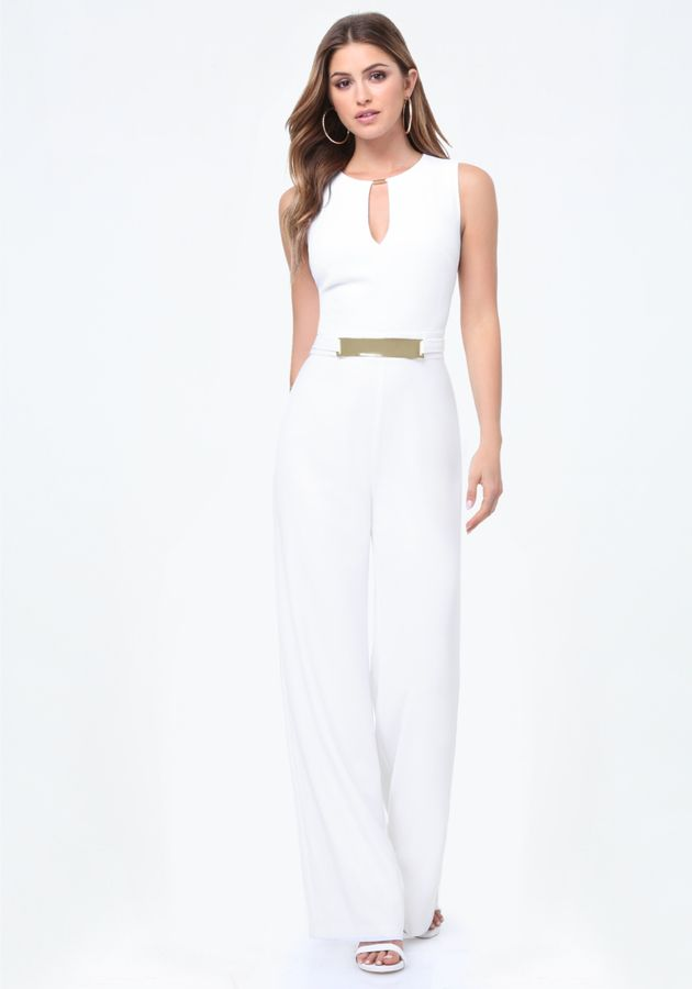 77190c94ea Keyhole Jumpsuit | Jumpsuit in 2019 | Jumpsuit, Sexy white dress ...