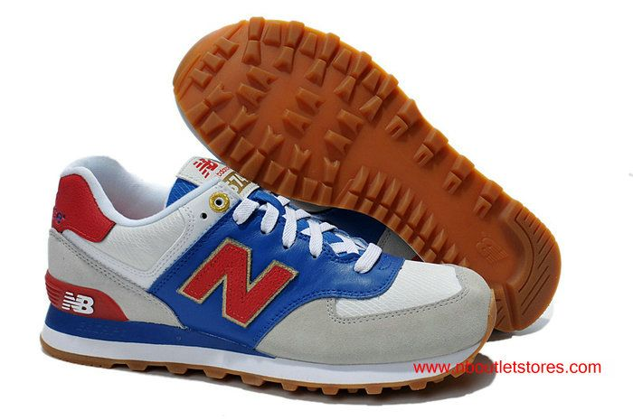 188a4c21bfda9 New Balance ML574OLG London Retro Running Lover Shoes Grey Blue Red For  Women  69.00