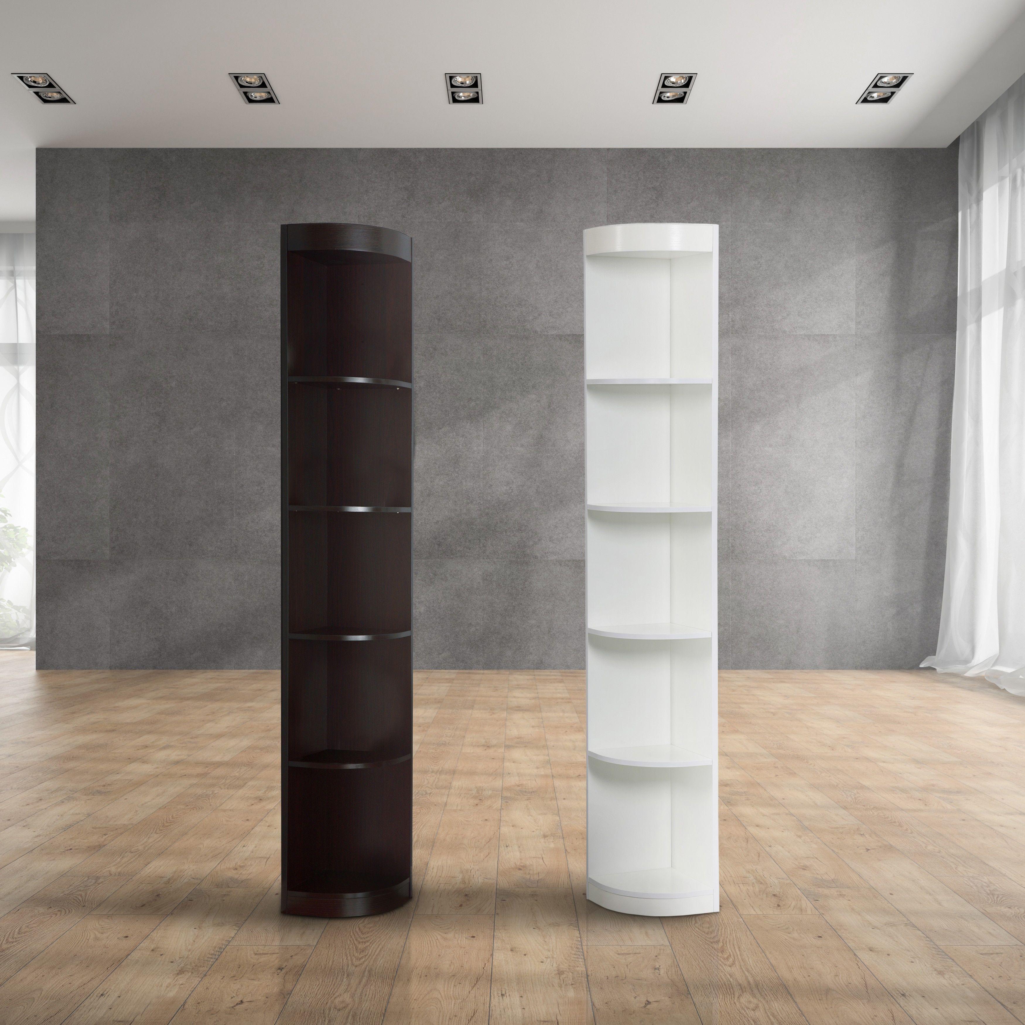 Furniture Of America Corner 5 Shelf Display Stand