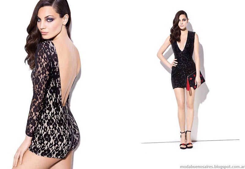 Vestidos de noche cortos ala moda 2014