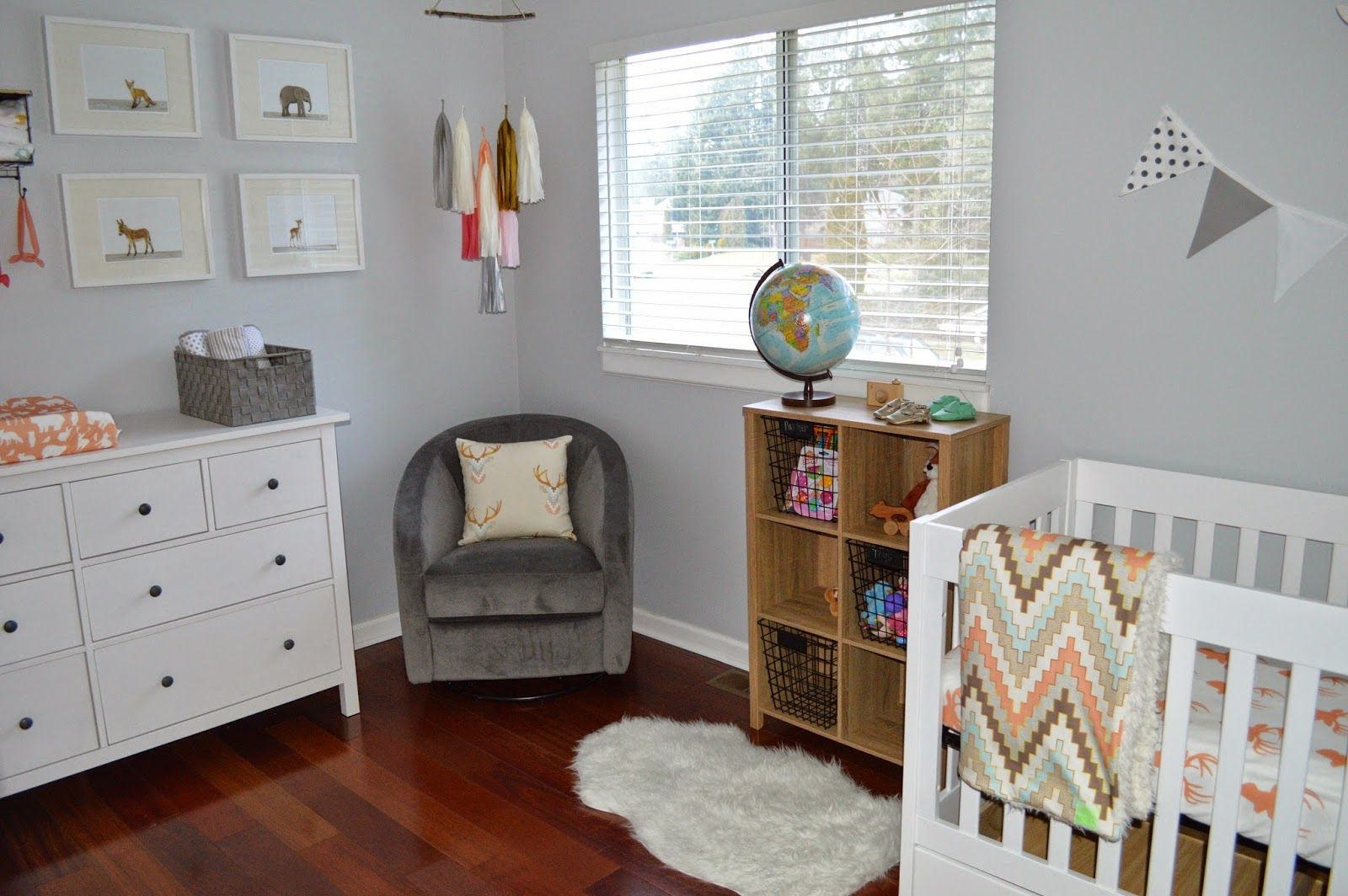 Woodland Baby Girl Nursery Ikea Hemnes Dresser Babyletto Mercer Crib  Madison Glider