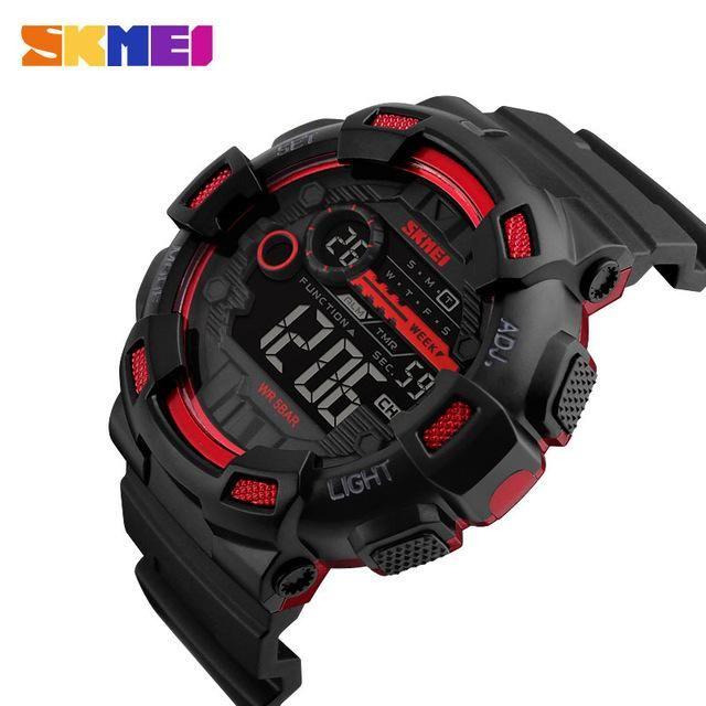 SKMEI Digital Sport Watch Men Countdown Chronograph Double Time Switch LED  Electronic Wrist Watches Military Wristwatch 1243 fec87dfb54