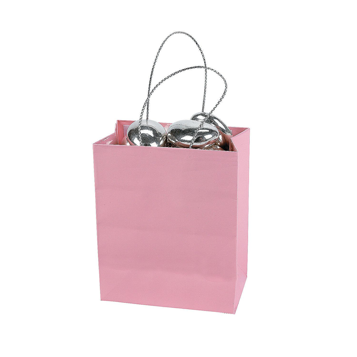 Mini Gift Bags - Pink - OrientalTrading.com $6.50 for 24