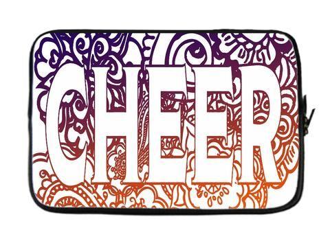 Cheer Doodle Laptop Sleeves