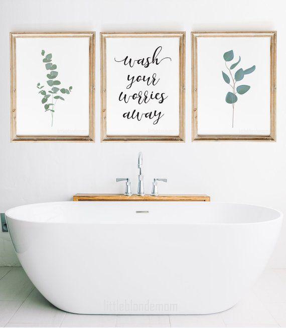 Photo of Bathroom Wall Decor   Set of 3 Wall Art   Farmhouse Wall Art   Home Printable   Printable Wall Art  