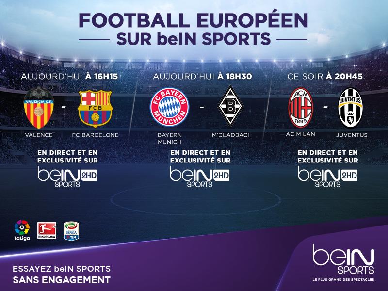 beIN SPORTS matchs en direct tv et live streaming