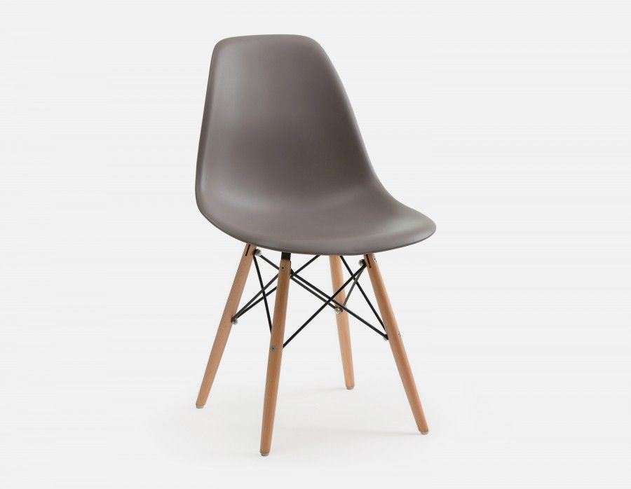 Brilliant Eiffel Taupe Chair With Solid Beech Wood Legs Kitchen Dailytribune Chair Design For Home Dailytribuneorg