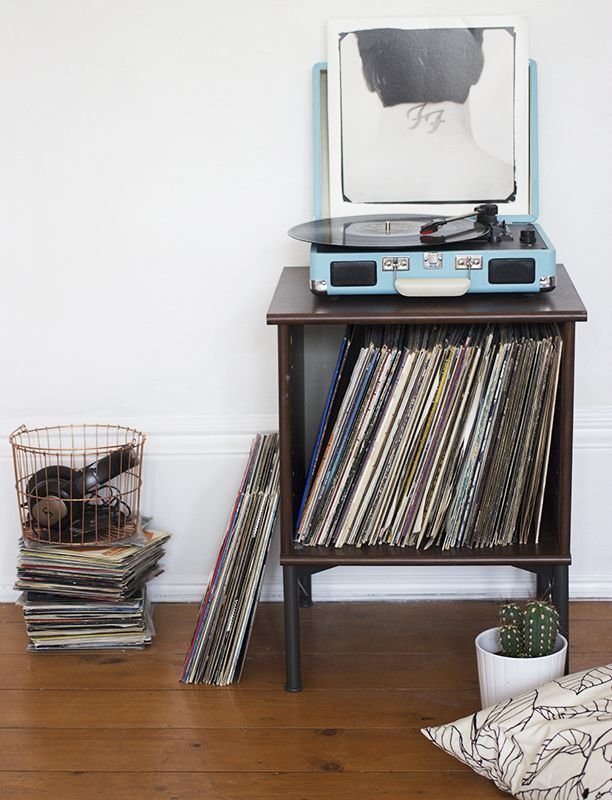 ikea hack record player stand nouvelle daily record