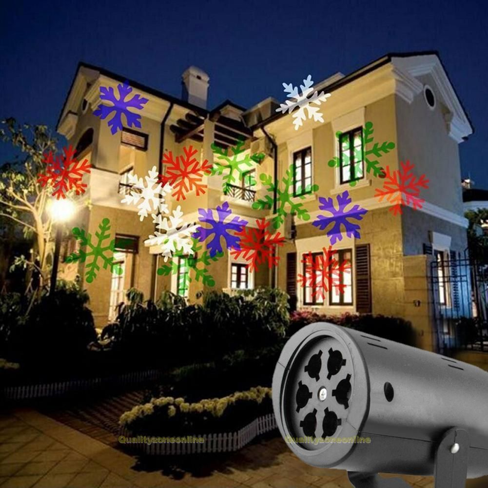 Led Snowflake Outdoor Landscape Garden Projector Moving Laser Xmas Stage Light Xmas Lights Outdoor Christmas Lights Projector Wall