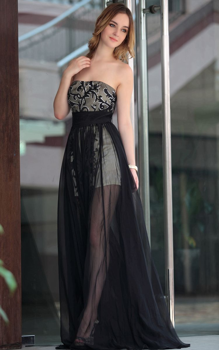 Unique black evening dress rsunblackevening