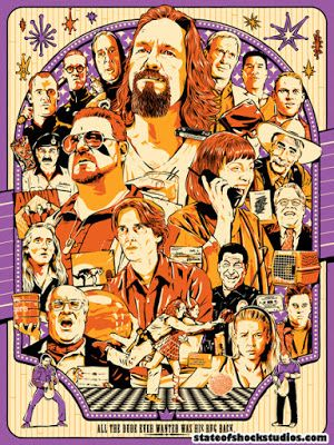 The Big Lebowski Classic Movie Large Poster Art Print Maxi A0 A1 A2 A3 A4