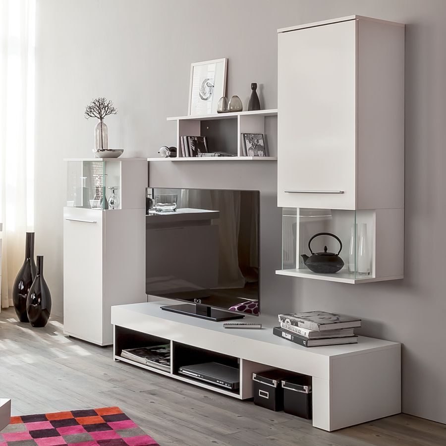Punch Meuble Tv - Schrankwand F R Das Wohnzimmer Haus Einrichtung Pinterest[mjhdah]http://www.royaledeco.com/68269/ensemble-meuble-tv-design-laque-blanc-a-led-multicolore-punch.jpg