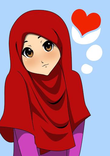 صور بنات رسوم متحركة اجدد خلفيات بنات كرتونيه صور حزينه Hijab Drawing Anime Muslimah Hijab Cartoon