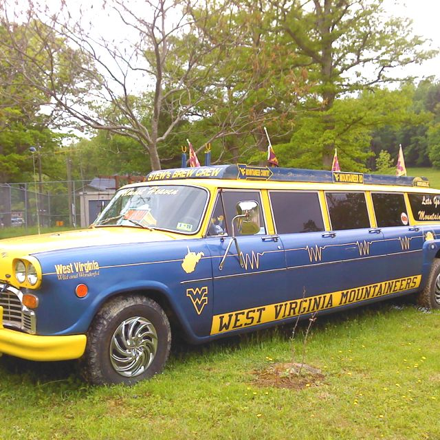 The pride if Elkins, WV!! Shot of the game day car before