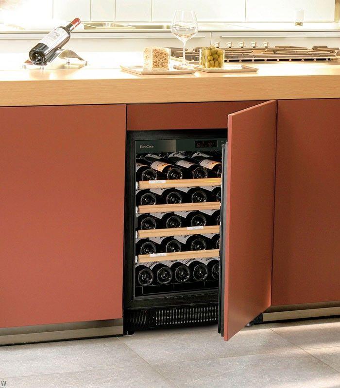 Weinklimaschränke in der Küchenzeile verbauen und mit einer - küche mit weinkühlschrank