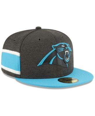 4c9c7509460cb New Era Boys  Carolina Panthers On Field Sideline Home 59FIFTY Fitted Cap -  Blue 6 3 8
