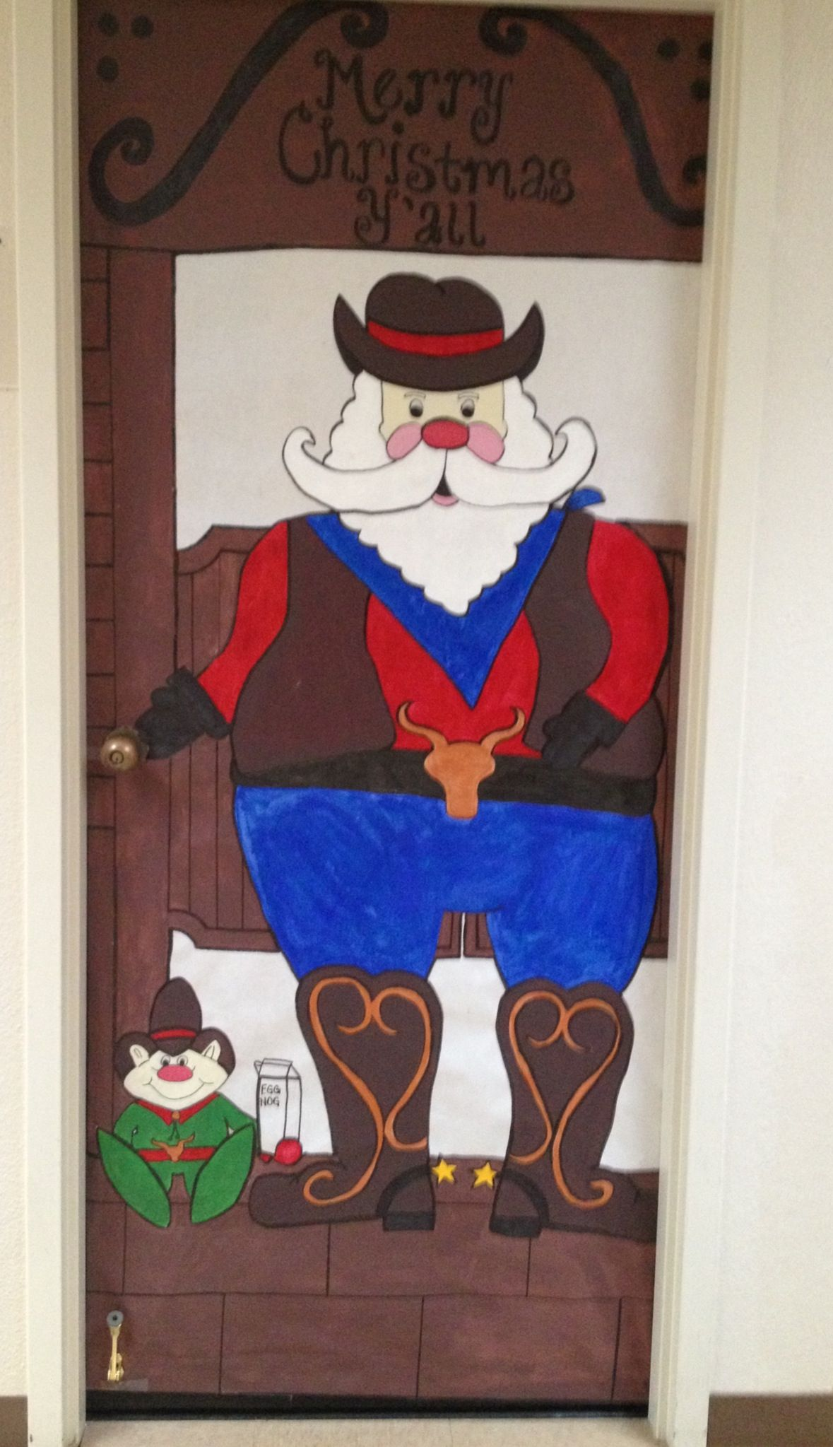 Christmas door decoration for a contest at work