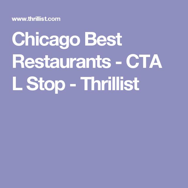 Chicago best restaurants cta l stop thrillist running is my chicago best restaurants cta l stop thrillist sciox Gallery