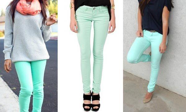 El Color Verde Menta No Pasa De Moda Ropa Verde Menta Combinar Pantalon Verde Pantalones Color Verde Menta