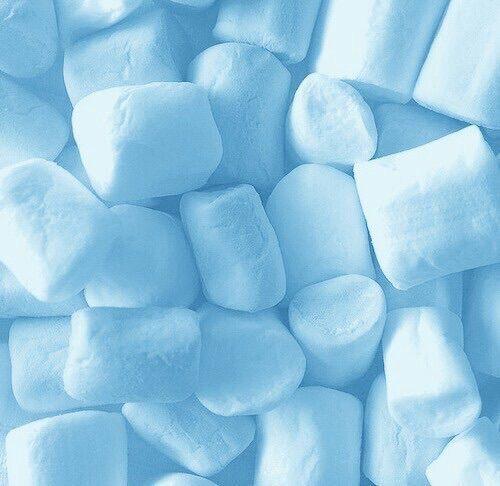Marshmallows || Sweet || Sugar || Roast || Campfire || Snack || Childhood Memories || Light || Pastel || Blue || Aesthetics || #blueaesthetic