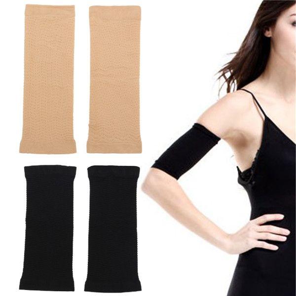 239c295c77 Elastic Women Slimming Arm Shaper Shapewear Upper Arm Shapers Black Nude