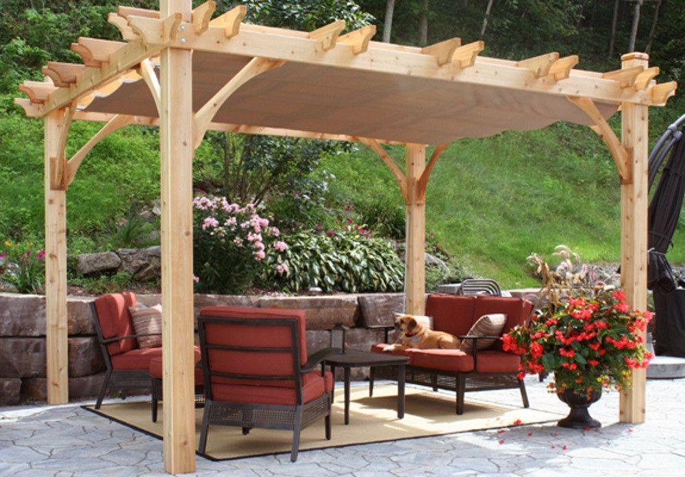 10 x 10 Breeze Pergola with Retractable Canopy   Canopy ...