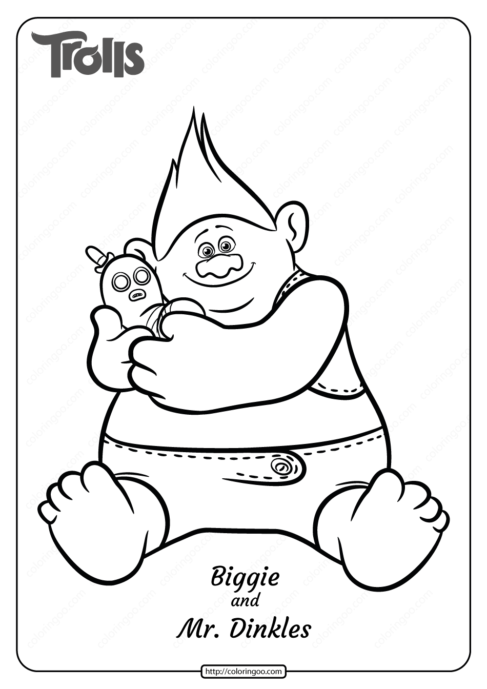 Free Printable Biggie And Mr Dinkles Coloring Page Precious Moments Coloring Pages Coloring Pages Poppy Coloring Page [ 1344 x 950 Pixel ]