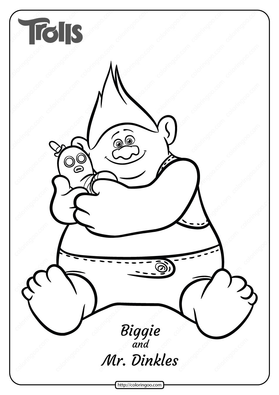 Free Printable Biggie And Mr Dinkles Coloring Page Coloring Pages Scary Coloring Pages Disney Coloring Pages
