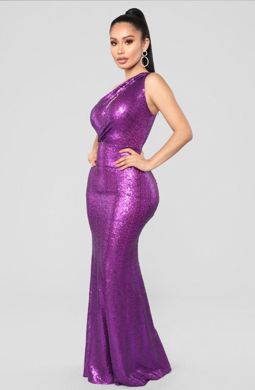 Gala Status Sequin Dress Purple Fashion nova dress