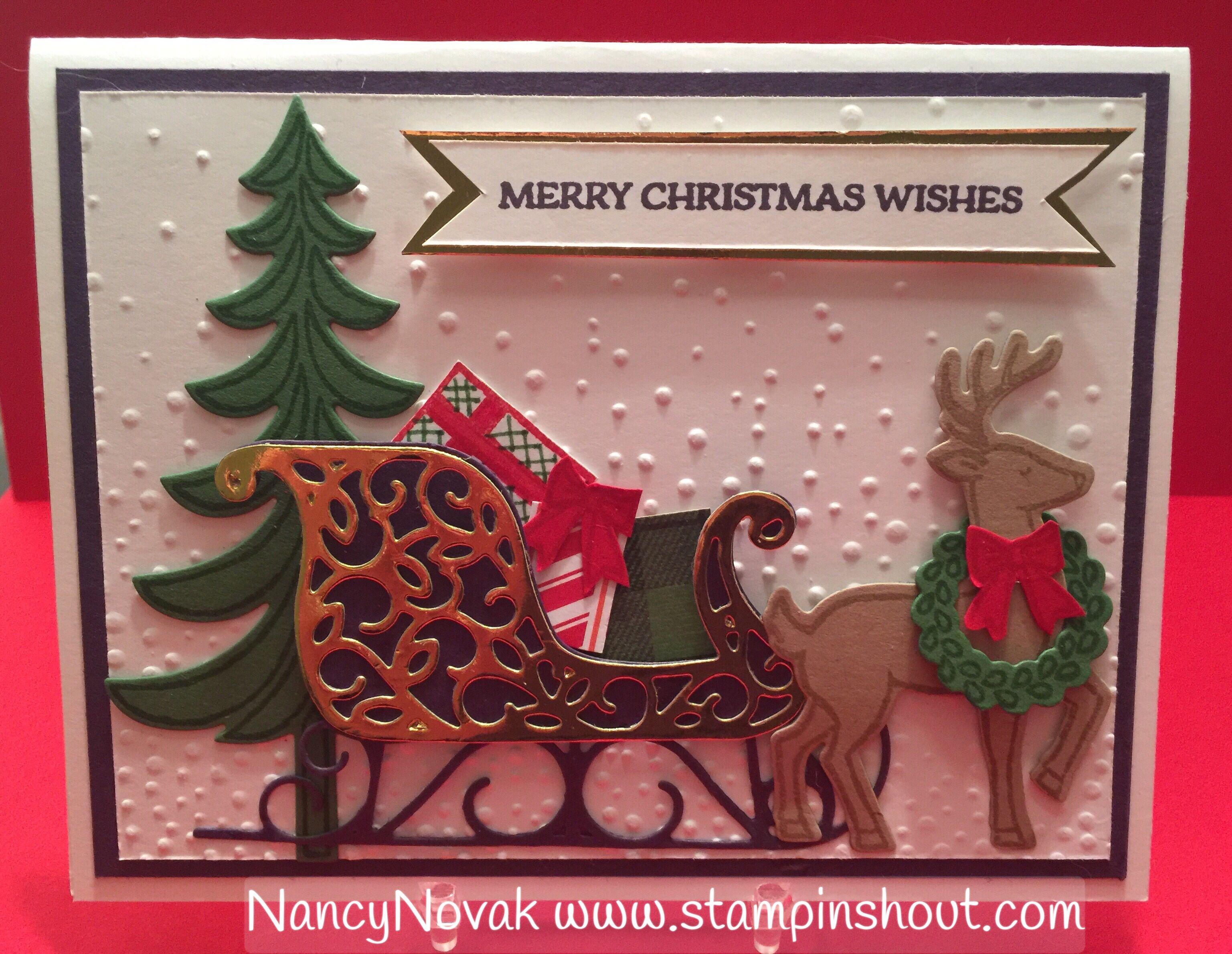 santa 39 s sleigh nancy 39 s cards crafts santa sleigh. Black Bedroom Furniture Sets. Home Design Ideas